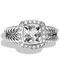 David Yurman | Petite Albion® Ring With White Topaz And Diamonds | Lyst