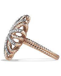 David Yurman - Starburst Ring With Diamonds In 18k Rose Gold - Lyst
