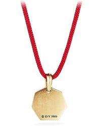 David Yurman - Dy Fortune Pendant In Red In 18k Gold - Lyst