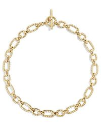 David Yurman | Cushion Link Necklace With Diamonds In 18k Gold, 12.5mm | Lyst