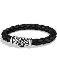 David Yurman - Chevron Rubber Weave Bracelet In Black, 8mm - Lyst