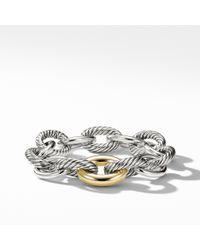 David Yurman - Extra-large Oval Link Bracelet With 18k Gold - Lyst