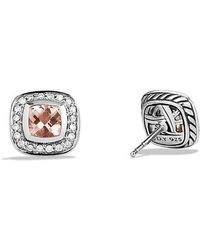 David Yurman - Petite Albion® Earrings With Morganite And Diamonds - Lyst
