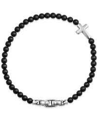 David Yurman - Spiritual Beads Cross Station Bracelet With Black Onyx - Lyst