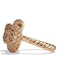 David Yurman | Mini Bow Ring With Diamonds In 18k Rose Gold | Lyst