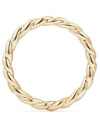 David Yurman | Paveflex Ring In 18k Gold, 2.7mm | Lyst