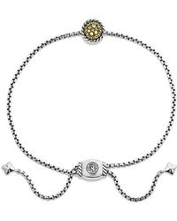 David Yurman | Petite Pave Bracelet With Yellow Sapphire | Lyst