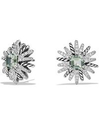David Yurman | Starburst Earrings With Prasiolite And Diamonds, 19mm | Lyst