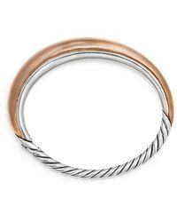 David Yurman - Pure Form® Mixed Metal Smooth Bracelet With Bronze And Silver, 9.5mm - Lyst