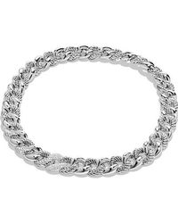 David Yurman | Belmont Curb Link Necklace With Diamonds | Lyst