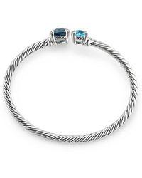 David Yurman - Chatelaine® Bypass Bracelet With Hampton Blue Topaz, Blue Topaz And Diamonds - Lyst