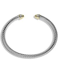 David Yurman - Cable Classics Bracelet With Diamonds And 18k Gold, 5mm - Lyst