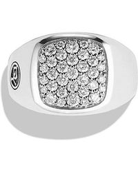 David Yurman - Exotic Stone Signet Ring With Diamonds - Lyst