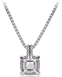 David Yurman - Châtelaine Pendant Necklace With Amethyst And Diamonds, 11mm - Lyst