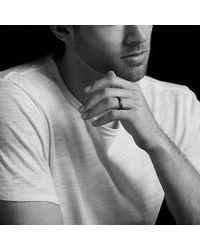 David Yurman - Dy Delaunay Narrow Band Ring In Black Titanium, 4mm - Lyst