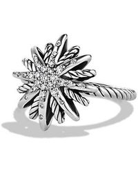 David Yurman - Starburst Ring With Diamonds - Lyst