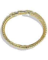 David Yurman | Willow Five-row Bracelet With Diamonds In 18k Gold | Lyst