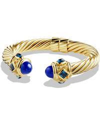 David Yurman - Renaissance Bracelet With Lapis Lazuli And Hampton Blue Topaz In 18k Gold, 10mm - Lyst