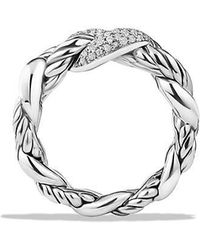 David Yurman - Belmont Curb Link Ring With Diamonds - Lyst