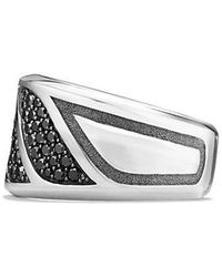 David Yurman | Graphic Cable Band Ring With Black Diamonds | Lyst