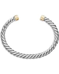 David Yurman - Cable Classic Cuff Bracelet With 18k Gold - Lyst