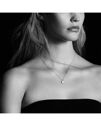 David Yurman - Initial Charm Necklace With Diamonds In 18k Gold - Lyst