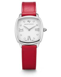 David Yurman | Albion 27mm Leather Swiss Quartz Watch In Crimson | Lyst