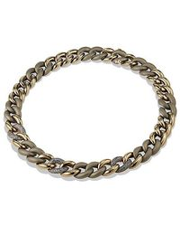 David Yurman - Belmont® Curb Link Necklace With Color Change Garnet In Titanium With An Accent Of 18k Gold - Lyst