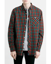 Topman Men'S Slim Fit Check Shirt - Lyst