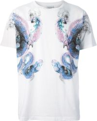 Marcelo Burlon County Of Milan Snake Print T-shirt - Lyst