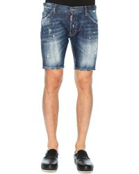DSquared² Distressed Denim Shorts - Lyst