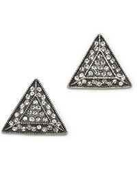 Lulu Frost Emergence Stud Earrings Clear - Lyst