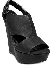 Steve Madden Xander Platform Wedge Sandals - Lyst
