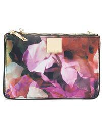 Ted Baker 'Cascading Floral' Canvas Crossbody Bag - Lyst