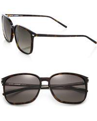 Saint Laurent Square Acetate Sunglasses - Lyst