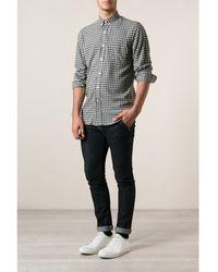 Ami Alexandre Mattiussi Grey Check Cotton Shirt - Lyst