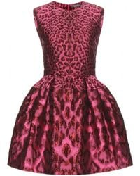 Alexander McQueen Pink Brocade Dress - Lyst