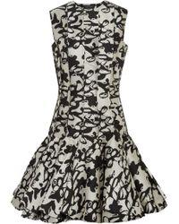 Lanvin Flared Jacquard Mini Dress - Lyst