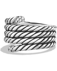 David Yurman Willow Serpentine Ring With Diamonds - Lyst