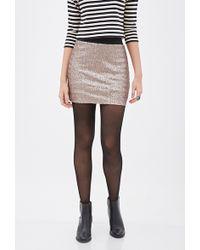 Love 21 Sequined Mini Skirt - Lyst