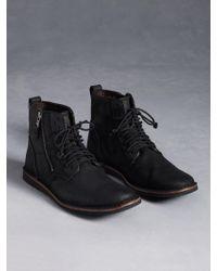 John Varvatos Barrett Side Zip Boot - Lyst