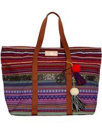 Sam Edelman Tara Striped Tote multicolor - Lyst