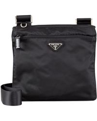 Prada Vela Crossbody Messenger Bag - Lyst