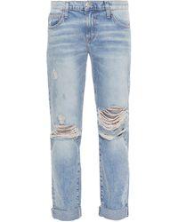 Current/Elliott The Fling Slim Boyfriend Jeans - Lyst