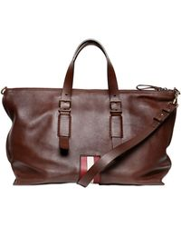 Bally Soft Calf Leather Weekender Bag - Lyst