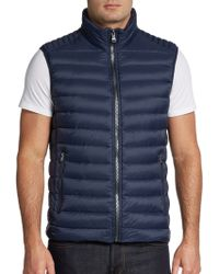 Michael Kors Quilted Down Puffer Vest - Lyst