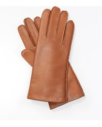 Ann Taylor Cashmere Lined Leather Gloves - Lyst