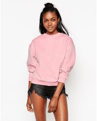 Motel - Albite Oversized Sweatshirt In Pink - Lyst