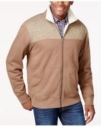 Weatherproof - Vintage Zip-front Sweater Jacket - Lyst