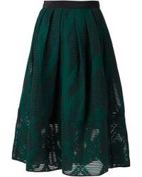 Tibi Jacquard Full Skirt - Lyst